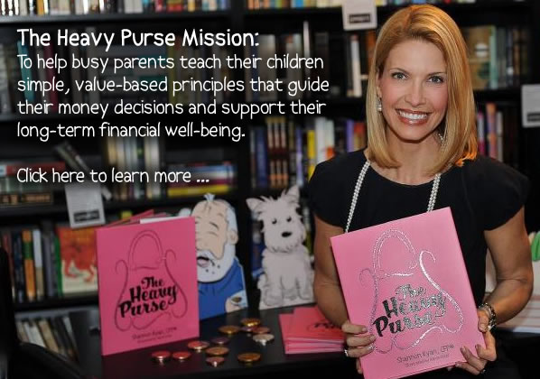 The Heavy Purse Mission is to help busy parents teach their children value-based principles that guide their money decisions and support long-term financial well-being