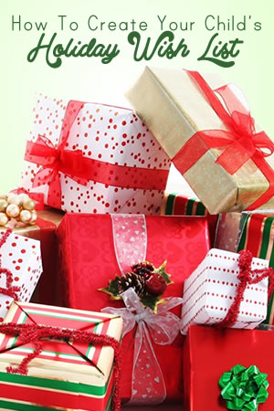 How to Create Your Child's Holiday Wish List | www.TheHeavyPurse.com