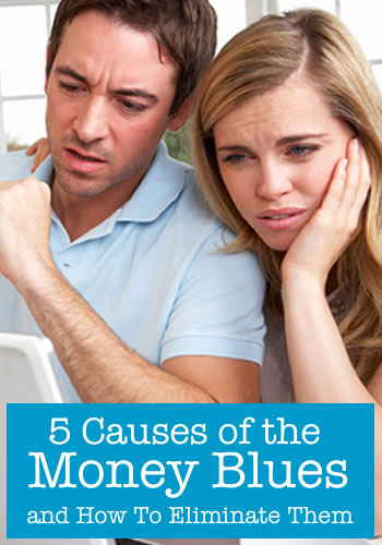 5 causes of the money blues and how to eliminate them | www.TheHeavyPurse.com