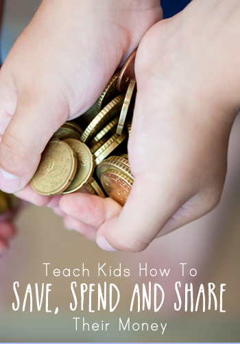 Teach Kids How To Save, Spend and Share Their Money | www.TheHeavyPurse.com
