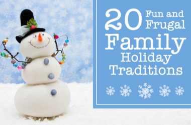 20 Fun and Frugal Holiday Traditions | www.TheHeavyPurse.com #Christmas #Traditions #Family