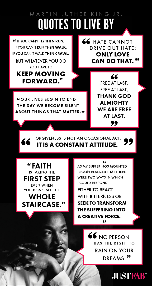 Martin Luther King Jr Quotes #infographic