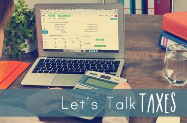 Let's Talk Taxes | www.TheHeavyPurse.com