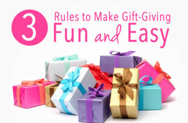 3 Rules to Make Gift Giving Fun and Easy | www.TheHeavyPurse.com