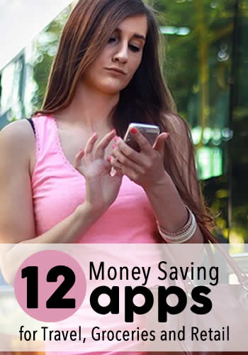 12 Money Saving Apps for Travel, Groceries and Retail | www.TheHeavyPurse.com