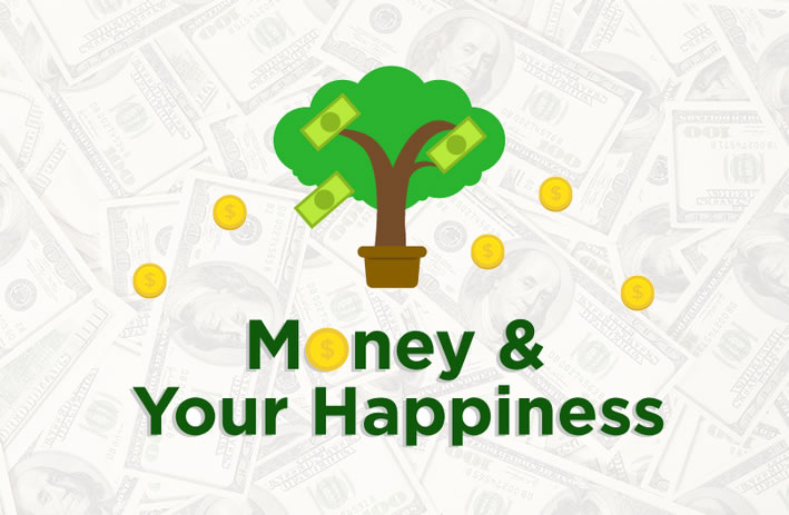 Your Money and Your Happiness #Infographic | www.TheHeavyPurse.com