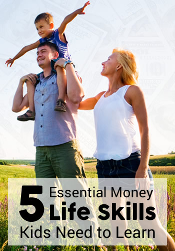 5 Essential Money Life Skills Parents Need to Teach Kids | www.TheHeavyPurse.com