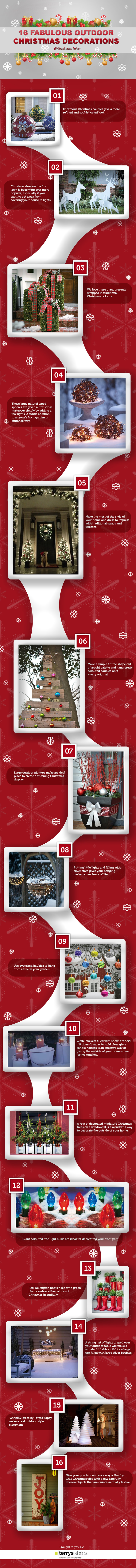 16 Fabulous Outdoor Holiday Decorations