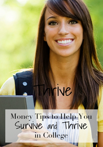 Money Tips to Help You Survive and Thrive in College | www.TheHeavyPurse.com