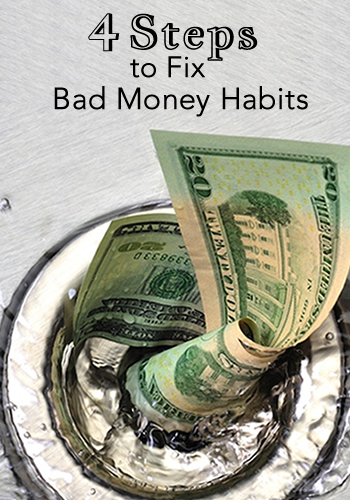 4 Steps to Fix Bad Money Habits and Embrace Living Within Your Means | www.TheHeavyPurse.com