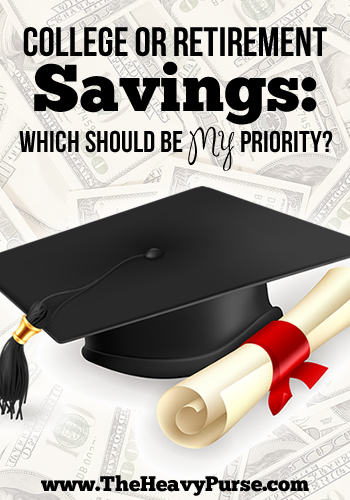College or Retirement Savings: Which Should Be My Priority? | www.TheHeavyPurse.com