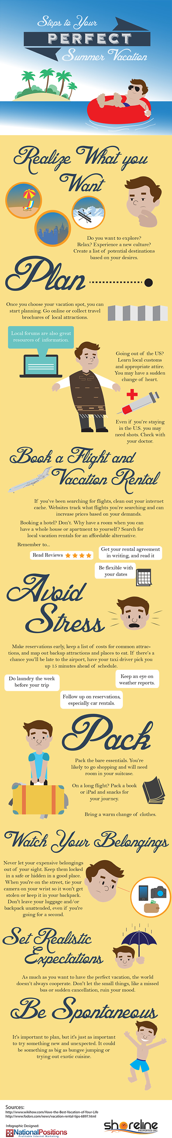 Steps to Your Perfect Vacation #Infographic | www.EatLaughPurr.com