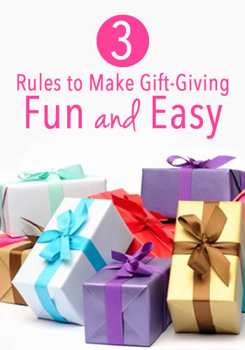 3 Rules to Make Gift-Giving Fun and Easy | www.TheHeavyPurse.com